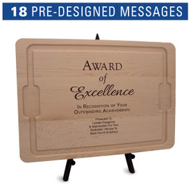 12x17 maple cutting board with juice well and grip handles