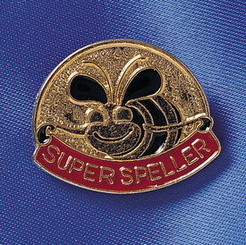 super speller bee lapel pin