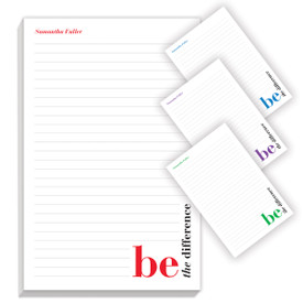be the difference notepad with four different messages
