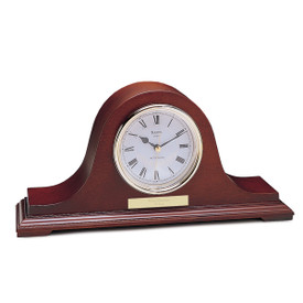 bulova annette wooden mantel clock with gold-tone bezel