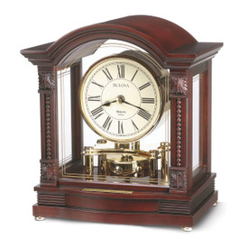 bulova bardwell chiming pendulum mantle clock