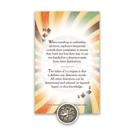 compass lapel pin with message card
