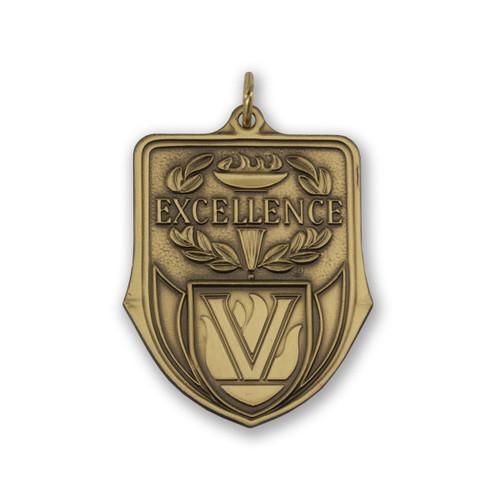 excellence die struck solid brass medallion