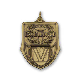 excellence die struck solid brass medallion
