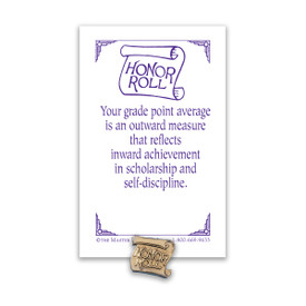 honor roll lapel pin with message card
