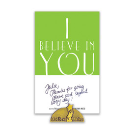 i believe in you lapel pin with message card