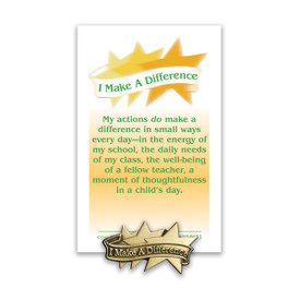 i make a difference lapel pin with message card