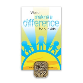 making a difference lapel pin with message card