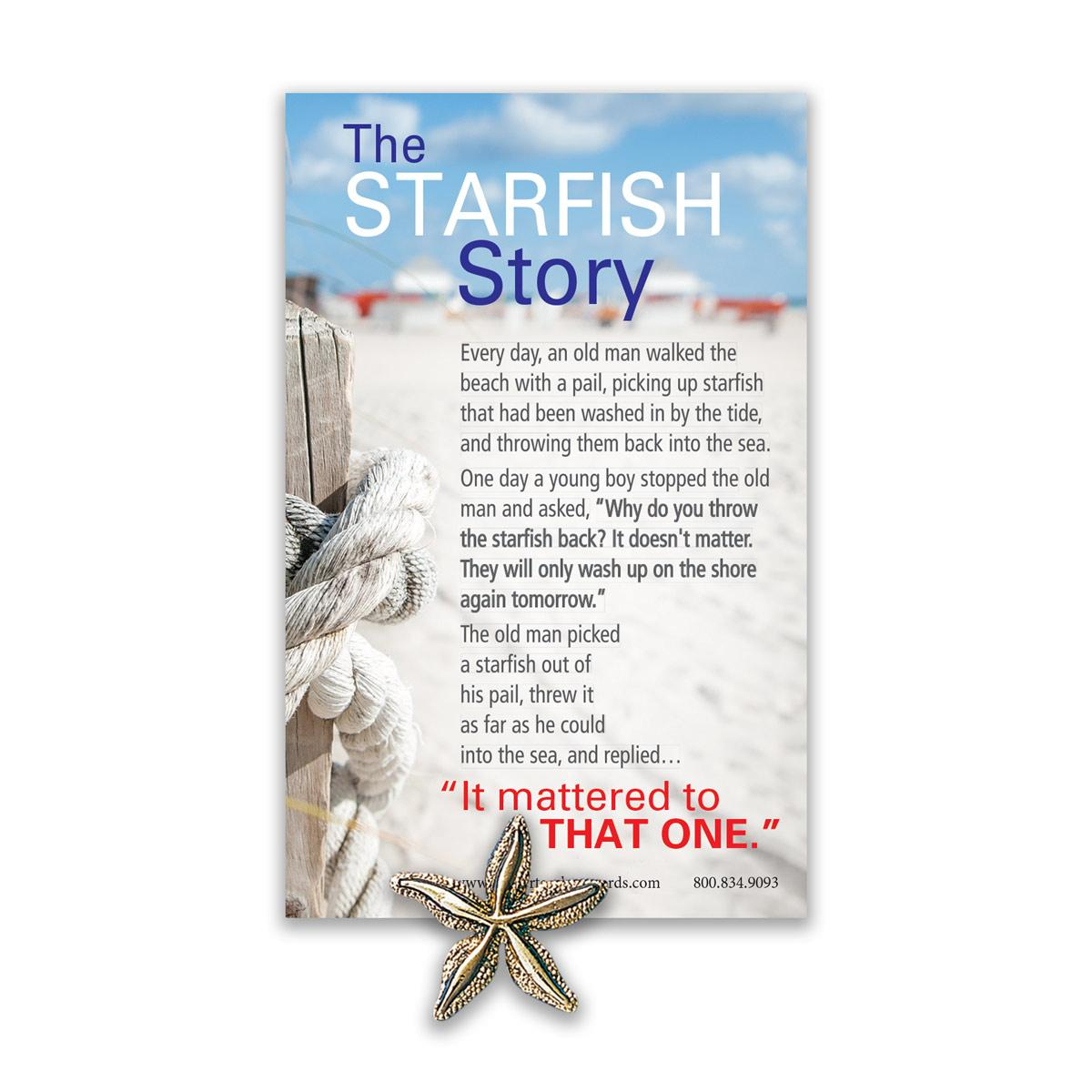 image about Starfish Poem Printable named The Starfish Tale Lapel Pin