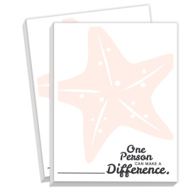 notepads with make a difference message