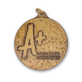 A+ die struck solid brass medallion