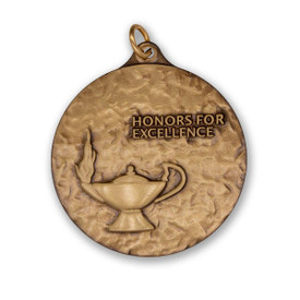 honors for excellence die struck solid brass medallion