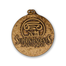 superintendent's award die struck solid brass medallion