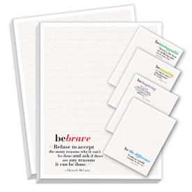 be collection notepads with five different messages