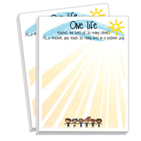 notepads with one life message
