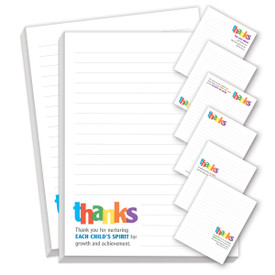 thanks notepads with seven different messages