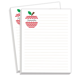 personalized notepads with apple design