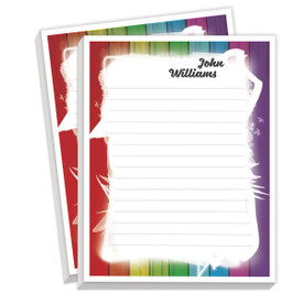 personalized notepads with colorful border