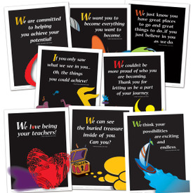 set of 8 we believe in you posters