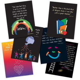 set of 6 at the heart of teaching posters