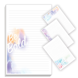 watercolor notepads with four different messages