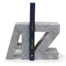 A to Z gray marble bookends.