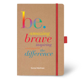 Eco-Friendly Hardbound Journal Featuring the Inspirational Be Collection Message. 5 colors to choose from.