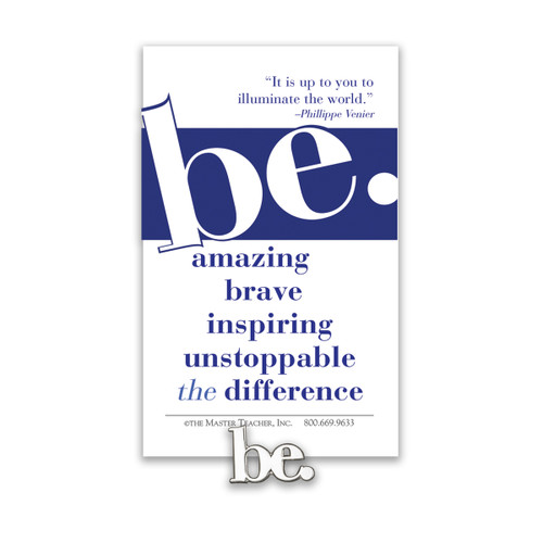 be collection lapel pin with message card