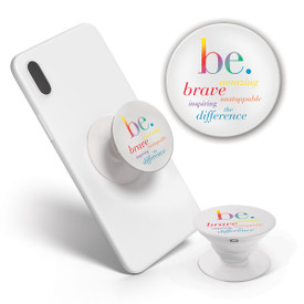 This Pop-Out Phone Grip featuring the inspirational Be Collection message is the perfect functional gift for teachers.