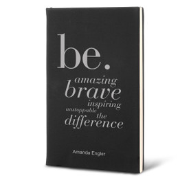 Richly textured hardbound journal featuring the inspirational Be message. 9 colors to choose from.
