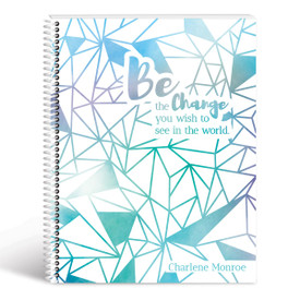 be the change geometric cover blue