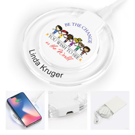 wireless charger with LED light and be the change message