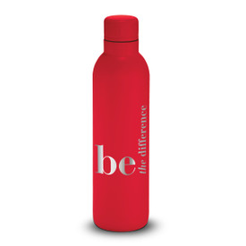 17oz. stainless steel insulated water bottle featuring the inspirational message Be The Difference. 6 colors to choose from.