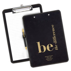 """9""""w x 12.5""""h Richly Textured Clipboard Featuring The Inspirational Message: Be The Difference. Available In 5 Colors."""