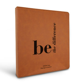 """3 Ring Binder Notebook Featuring The Inspirational Message: Be The Difference. Available In 5 Colors. 10.5""""w x 11.5""""h."""