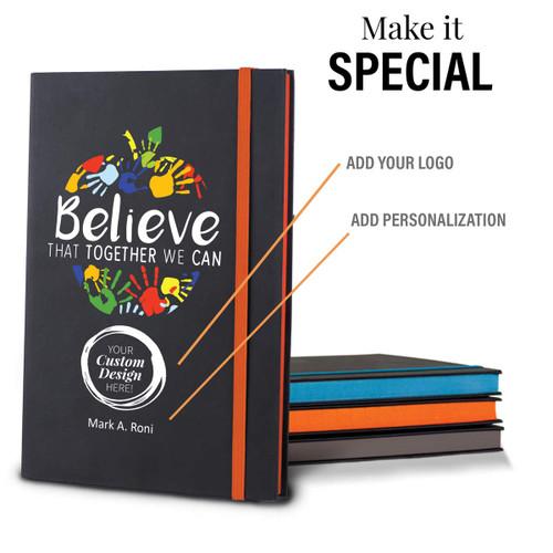 add you logo option on believe black journal