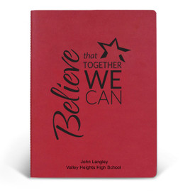 ApPEEL Grande Journal featuring the inspirational message Believe That Together We Can. 3 colors to choose from.