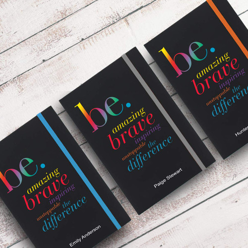 be collection black journals with multiple accent colors and personalization