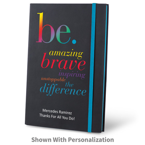 be collection black journal with purple accents and personalization