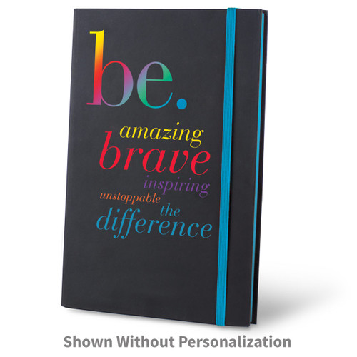 be collection black journal with blue accents