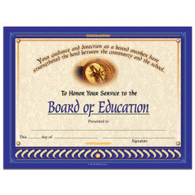 board of education certificate