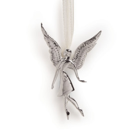 silver angel ornament/pin with Cherished Friend message