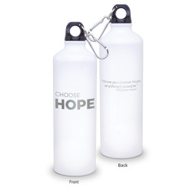 24oz. carabiner canteen featuring the inspirational message Choose Hope. 5 colors to choose from.