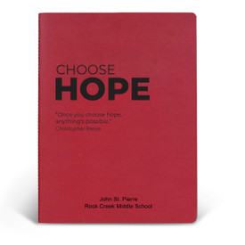 ApPEEL Grande Journal featuring the inspirational message Choose Hope. 3 colors to choose from.