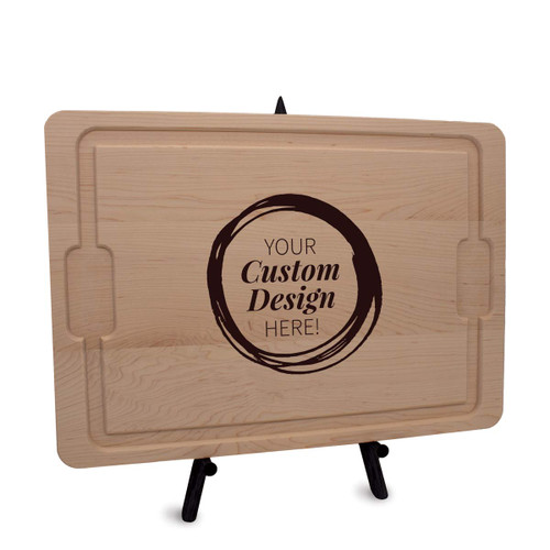 create your own maple rectangle cutting board