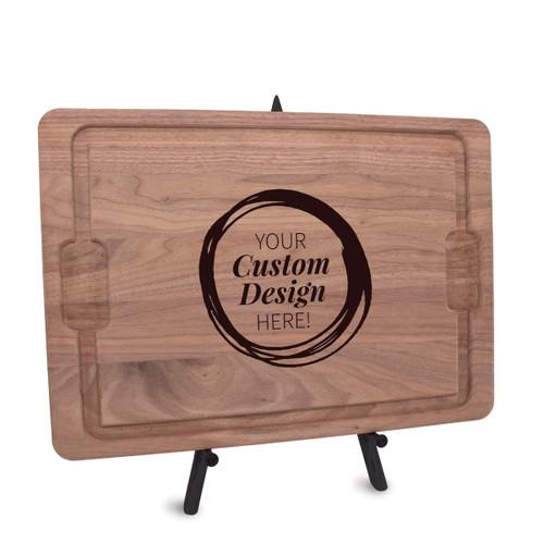 create your own walnut rectangle cutting board