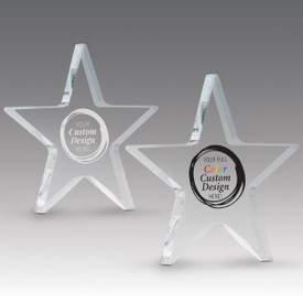 create your own acrylic star paperweight