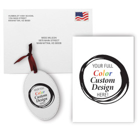 This Appreciation Mailer Kit Includes A Customizable Greeting Card With Envelope And A Custom Colorful Ornament. It's the Perfect Holiday Gift for Teachers.