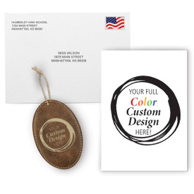 This Appreciation Mailer Kit Includes A Customizable Greeting Card With Envelope And A Custom Rustic Ornament. It's the Perfect Holiday Gift for Teachers.