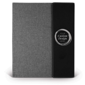 black heather gray padfolios with cougar logo